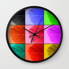 Pop Feathers Wall Clock