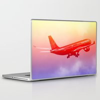 vietnam Laptop & iPad Skins featuring VIETNAM AIRLINES by Anile McLean
