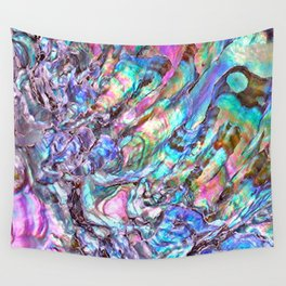 Shimmery Rainbow Abalone Mother of Pearl Wall Tapestry
