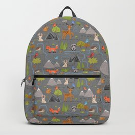 Forest Cute Animals and Birds Pattern Backpack