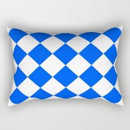 Blue white diamonds seamless Rectangular Pillow