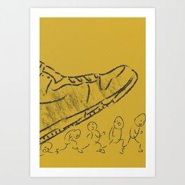 Giant shoe Art Print