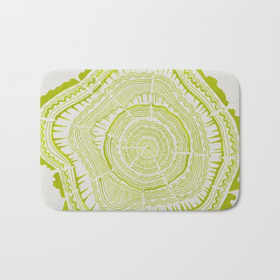 Lime Tree Rings Bath Mat