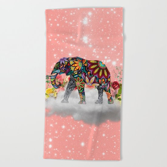 MANDALA ELEPHANT Beach Towel