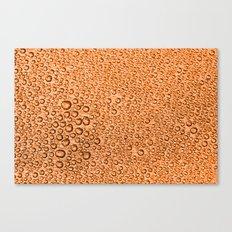 Water Condensation 05 Orange Canvas Print