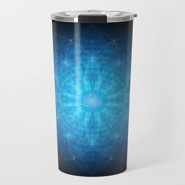 crystal mind. sacred geometry mandala Travel Mug