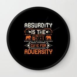 Elephant Quote - 04 Wall Clock