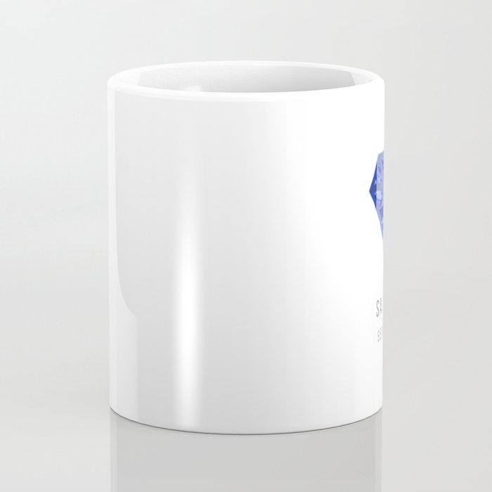 Sapphire birthstone mug - September Coffee Mug