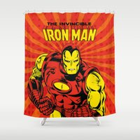 ironman Shower Curtains featuring IronMan 2 by WaXaVeJu