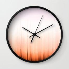 Sunset Flames Wall Clock
