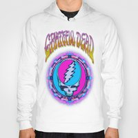 grateful dead Hoodies featuring Grateful Dead #11 Optical Illusion Psychedelic Design by CAP Artwork & Design