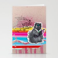 80s Stationery Cards featuring 80s Bear by Nils Vögeding
