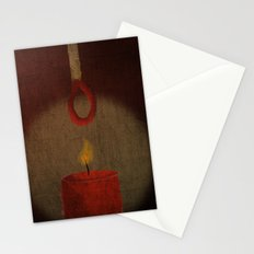 the match kills the candle Stationery Cards