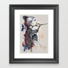 seehorse by carographic Framed Art Print