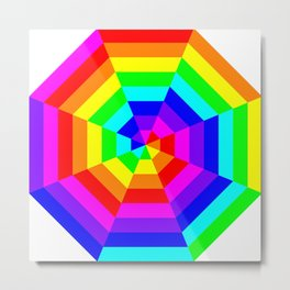 8 Color Octagon Target Metal Print
