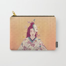 Origami Lady Carry-All Pouch