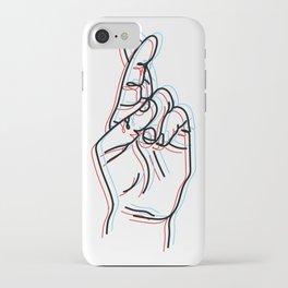 fingers crossed iPhone Case