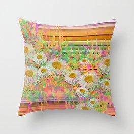 Daisy Cascade Throw Pillow