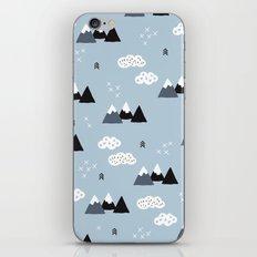Cool winter wonderland snow Fuji Mountain geometric illustration pattern iPhone & iPod Skin