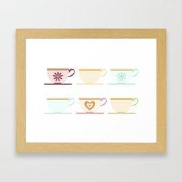 Teacups Framed Art Print