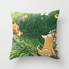 Roll on Flowers Throw Pillow