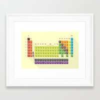 periodic table Framed Art Prints featuring periodic table by anil yanik