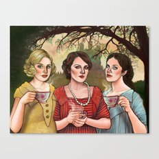 The Crawley Sisters Canvas Print