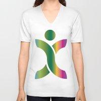 sport V-neck T-shirts featuring Sport Icon by Hasan Türkoğlu