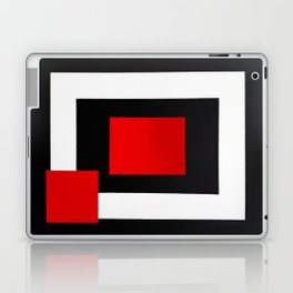 Geometric Abstraction - Red Laptop & iPad Skin