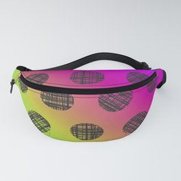 DP037-4 rainbow dotted Fanny Pack