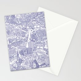 Illustrated map of Berlin-Mitte. Ink pen design Stationery Cards