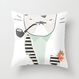 Monsieur Pops Throw Pillow