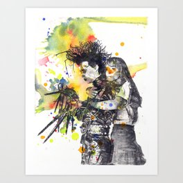 Edward Scissor Hands Art Print