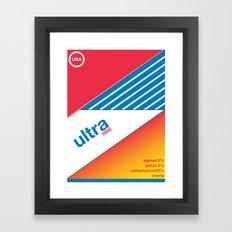 ultra//single hop Framed Art Print