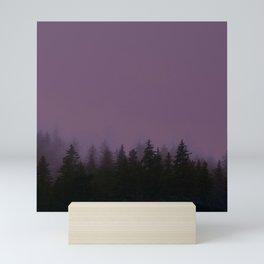 Alaska Fog 0388, EggPlant Mini Art Print