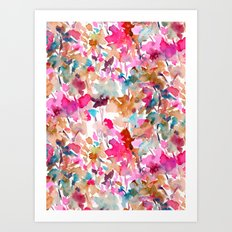 Local Color (Pink) Art Print