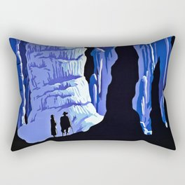 See America blue grotto vintage travel Rectangular Pillow