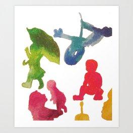 Children Playing Art Print