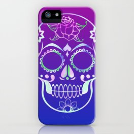 Love Skull (violette gradient) iPhone Case