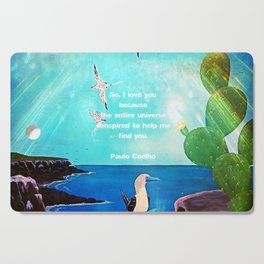 I LOVE YOU Inspirational Quote Cutting Board