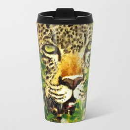 Wildlife Painting Series 3 - Leopard in preying pose Travel Mug