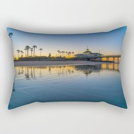 Wet Sand Sunrise Rectangular Pillow