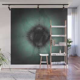 sustainable deep green Lovers Wall Mural