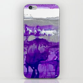 Winter in Purple and Silver iPhone Skin