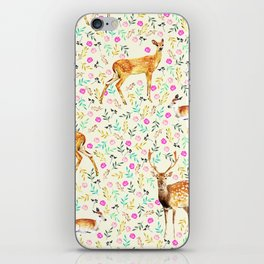 Deers #society6 #illustration #christmas iPhone Skin