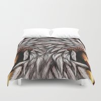native american Duvet Covers featuring Native by PanDuhVka