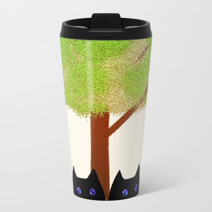 cat-186 Metal Travel Mug