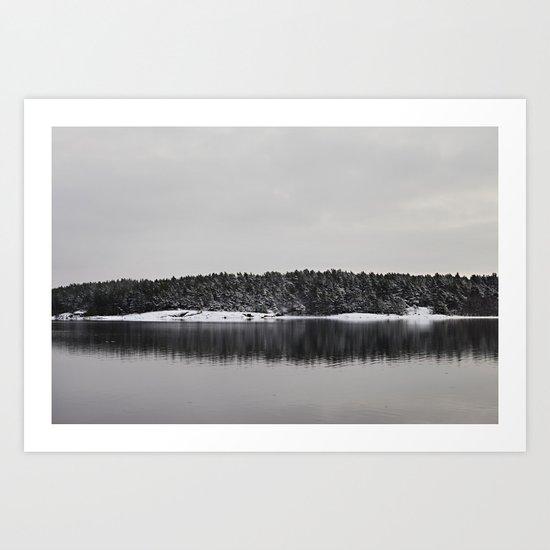 Winter Island Art Print
