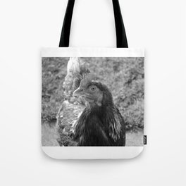 grayscale chicken (Ethel) Tote Bag