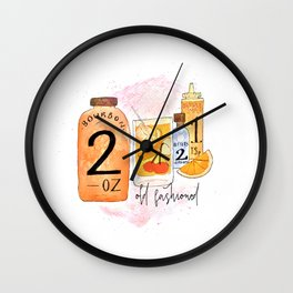 An Old Fashioned Cocktail Wall Clock